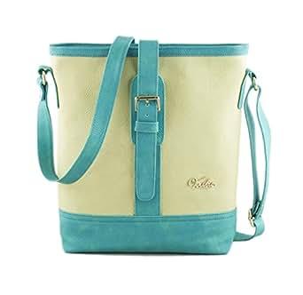 voaka torquise beige sling bag for college girls big