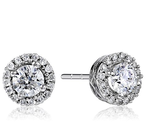 10k-White-Gold-125-cttw-Diamond-Earrings