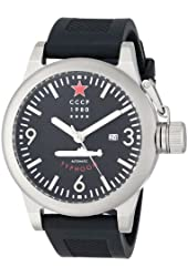 CCCP Men's CP-7018-01 Typhoon Analog Display Automatic Self Wind Black Watch