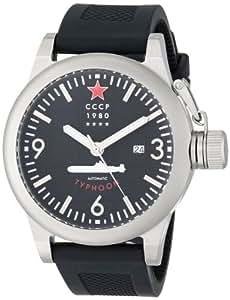 CCCP Men's CP-7018-01 Typhoon Analog Display Automatic Self Wind Black Watch