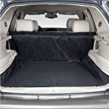 "Lalawow Quality Heavy Duty Waterproof Oxford Fabric Pet Car Rear Seat Protector Backseat Cover Car Boot Liner Mat Safety Carrier Hammock Blanket For Transportation Journey Travelling, 60"" x 48"" Easy Install Fits Most Cars, SUV, Vans & Trucks (Black)"