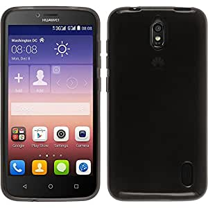 Amazon.com: Silicone Case for Huawei Y625 - transparent black - Cover