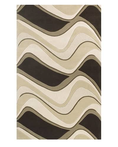 Kas Waves Rug, Mocha/Ivory, 5' x 8'