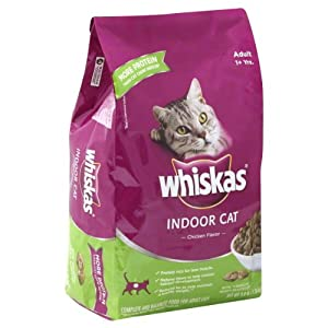 Whiskas Food for Cats, Indoor Cat, Chicken Flavor, 3 Lb, (Pack of 4)