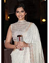 Fabboom New Latest Fancy Sonam Kapoor White Saree