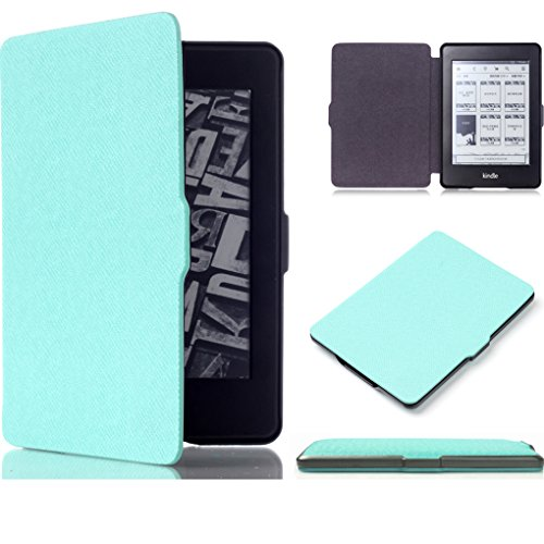 Kindle Paperwhite Case Cover Sleeve ImageLifestlye Hard PC Frame Protective Cover SmartShell Cases E-reader Cover Fits Kindle Paperwhite 2012, 2013 and 2015 (Kindle Paperwhite Teal Case) (Kindle Keyboard Lighted Cover compare prices)