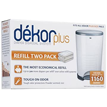 Diaper Dekor Plus Refills, 4 Pack