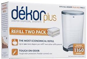 Diaper Dekor Plus Refill - 4 Pk