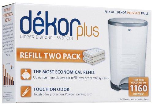 Diaper Dekor Plus Refills, 4 Pack