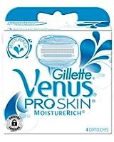 Venus Lames pour Rasoirs Pro Skin Moisture Rich Testé Dermatologiquement x 4