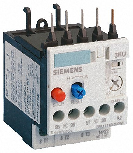 Siemens 3RU1126-1JB0 Thermal Overload Relay, for Induction Motors with a rating of 4kW. 1 NO and 1 NC auxiliary contacts. Delayed overload release 7-10A. (Siemens Induction compare prices)