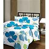 Plush Home Blue Flowers Ac Blanket (Material-polycotton, Size- Single Bed)