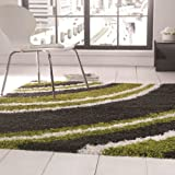 Nordic Crescent Lime Green/Steel P-P H/S Sh Home Area Floor Modern Contemporary Designer Rug 160X230Cm