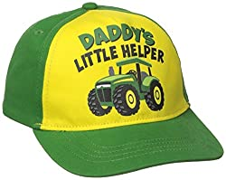 John Deere Toddler Boys' Daddys Helper Baseball Cap, Green, One Size