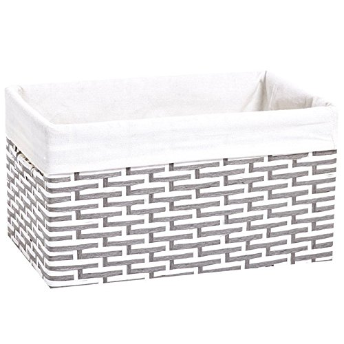 Lukasian House Baby Woven Storage Basket. Perfect storage to keep all your little one's baby items. (XLarge, Grey/White) (Lukasian House Storage Basket compare prices)