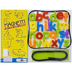 On-The-Go Magnetti Magnet Game with Magnetic Travel Board