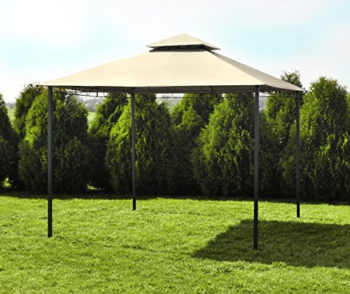 metall pavillon 3x3m gartenpavillon festzelt pavillion bierzelt creme grau 2204 farbe beige. Black Bedroom Furniture Sets. Home Design Ideas