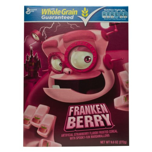 Monster Cereal, Frankenberry, 9.6-Ounce Boxes (Pack of 4)