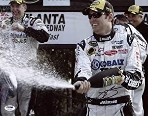 Autographed Jimmie Johnson Picture - 11x14 #g77287 - PSA DNA Certified - Autographed... by Sports Memorabilia