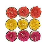 KARP Flower Tealight Candles For Diwali ,Birthday Party Gift And Aroma (Pack Of 9)