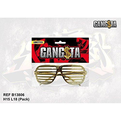 Lunettes dorées Gangsta - Grille