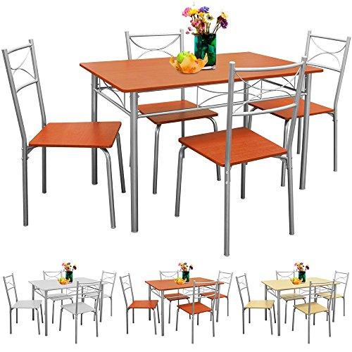 Sitzgruppe-Esszimmer-Kche-5tlg-Kastanie-Sthle-Tisch-Esstisch-Essgruppe