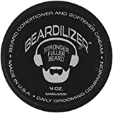 Beardilizer ® Beard Growth Conditioner And Softener Cream - Hypoallergenic Formula - Sandalwood - 4 oz
