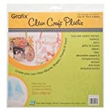Grafix Clear Craft Plastic .020 Thickness 12-Inch by 12-Inch, Pack of 4 (Color: .020 Thick, Tamaño: 12