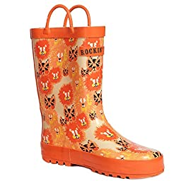 Rockin Baby Little Kids Boys or Girls Splashin Rain boots Rubber Boots Lion Buy 1 Help A Child In Need Size 9