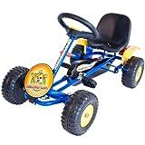 Cadet Racing Kart - Robust steel frame - Ideal starter go kart - Adjustable seat - Pedal Toys - Ride on - 3-5 yrs