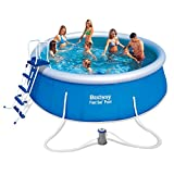 Bestway Fast Set Rundes Aufblasbares Schwimmbecken Pool 457x122cm 57289