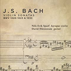 Violin Sonata in G minor, BWV 1020 (attrib. to C.P.E. Bach, H. 542.5) (arr. T. Hoppstock for violin and guitar); transposed up a whole step: II. Adagio