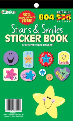 Eureka Stars and Smiles Sticker Book - 1