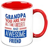 Gift For Grandpa - HomeSoGood Grandfather You Are My Awesome Friend White Ceramic Coffee Mug - 325 Ml