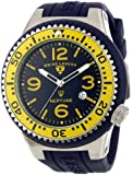 Swiss Legend Men's 21818S-C-MW Neptune Stainless Steel Watch with Navy Blue Silicone Band