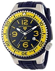 Swiss Legend Watches, Men's Neptune Dark Blue Dial Dark Blue Silicone, Model 21818S-C-MW