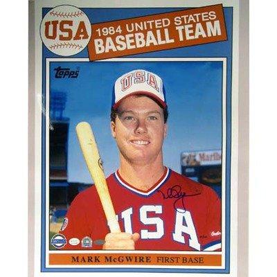 Cardinals mark mcgwire 1984 topps usa baseball card 16 x 20 inch
