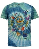 The Beatles - Yellow Sub Spiral Tie Dye T-Shirt