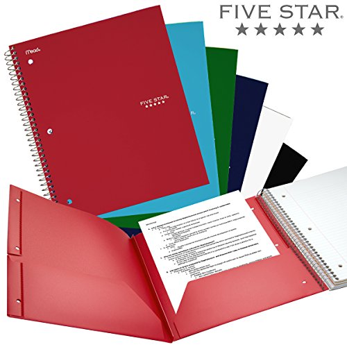 notebook with different colored pages - five star wirebound notebook 3 subject 150 college ruled