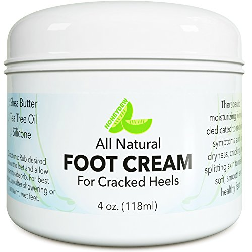 Natural Tea Tree OilFootCream for Dry & Cracked Feet with Pure Coconut + Shea Butter & Vitamin E - Dry Skin Moisturizer for Men & Women - 4 oz (Cream For Foot compare prices)