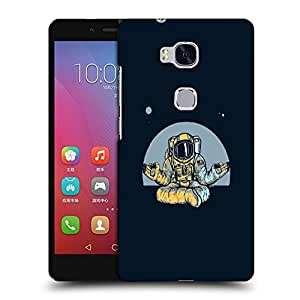 Snoogg Astronaut Doing Yoga Designer Protective Back Case Cover For HUAWEI HONOR 5X