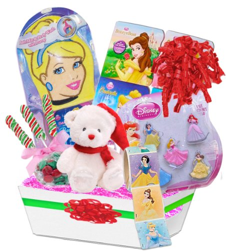 Lil Princess Disney Princess Christmas Gift Basket Featuring Disney Princess Holiday Toys