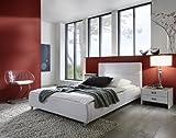 XXS® Zarah Polsterbett 90 x 200 cm in edlem weiß