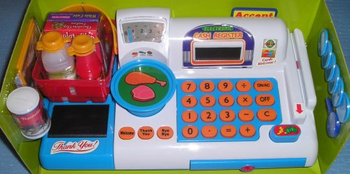 Just Kidz Toy Cash Register - Buy Just Kidz Toy Cash Register - Purchase Just Kidz Toy Cash Register (Just Kidz, Toys & Games,Categories,Pretend Play & Dress-up,Sets,Cooking & Housekeeping,Grocery Shopping)