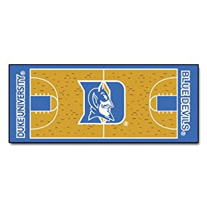 Buy FANMATS NCAA Duke University Blue Devils Nylon Face Basketball Court Runner by Fanmats