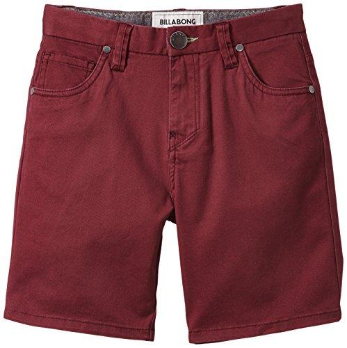 Billabong-Outsider, Pantaloni corti, sportivi, da bambino rosso  Rosso Bordeaux 176 (EU)