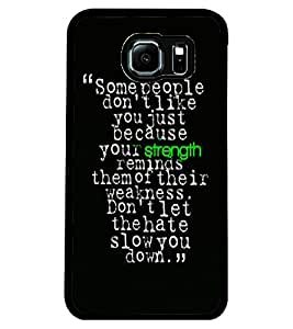 ColourCraft Quote Design Back Case Cover for SAMSUNG GALAXY S6 EDGE
