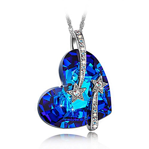 LadyColour-Venus-Shooting-Star-Hollow-out-Design-Heart-Sapphire-Pendant-Necklace-Made-With-Swarovski-Crystals-Engraved-With-I-Love-You-To-The-Moon-and-Back