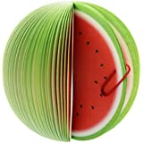 Padmall Creative and Cute 3D Fruit Desk Paper Scratch Pads , Memo Pad , Paper Notes , Mini Notepad, Note Pads , As School Gift for Students, 150 Pages Each ,2 Pcs, Watermelon