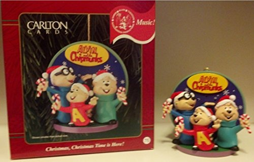 Carlton Heirloom Sound Ornament (CXOR-068A) Alvin and the Chipmunks 'Christmas, Christmas Don't Be Late!'